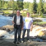 Традиционная остановка на порогах р.Тохмайоки перед финской границей