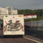 Больше половины машин с парома идут через Стокгольм единым потоком по трассе Е4/Е20